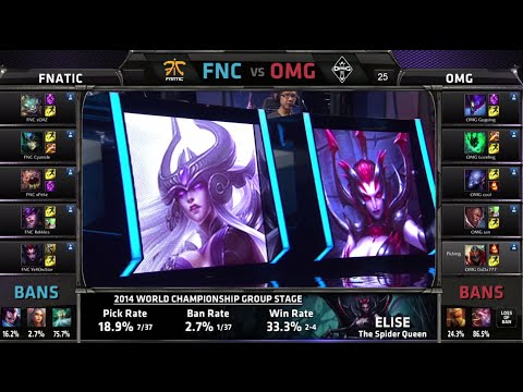 lol - D3G1 Fnatic vs OMG epic intense game LOL S4 Worlds G2 return match   OMG vs FNC Round 2 Game 2   Fnatic vs OMG G2 Group C #worlds Next match of the day - All...