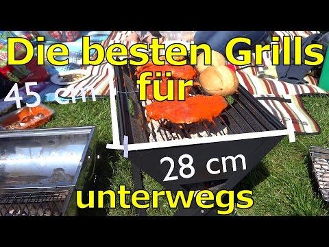 Test & Vergleich der besten tragbaren Grills: Klappgrills + Dinge zum Grillen im Park / Festival!