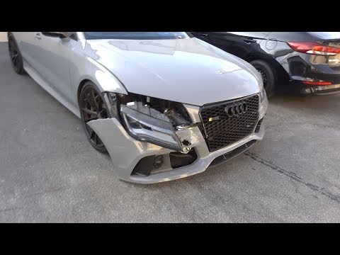 I Crashed My Audi RS7 Into A Fan!