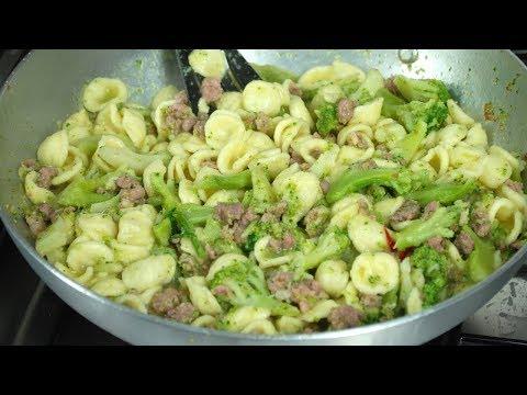 orecchiette broccoli e salsiccia - ricetta