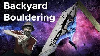 Backyard Bouldering || New Holds for the Home Training Board by Bouldering Bobat
