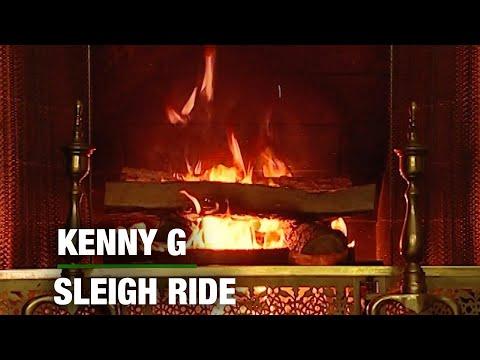Kenny G - Sleigh Ride (Christmas Songs - Yule Log)