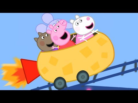 Peppa Pig English Episodes  Peppa Pig's Roller Coaster FUN!  1 Hour  Cartoons for Children #167