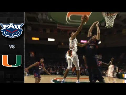 Florida Atlantic vs. Miami Men's Basketball Highlights (2019-20)