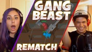 """FIGHTING DIRTY"" REMATCH - Gang Beast - Husband vs Wife"
