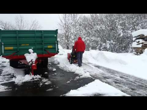 Uporaba snežne freze MTD ME76
