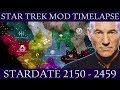 Stellaris: Star Trek Galactic Timelapse 2150 2459