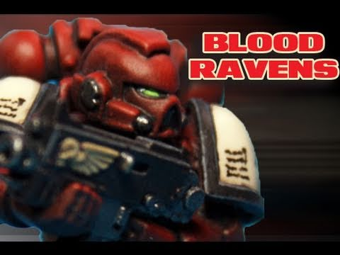 how to paint space marines - Buy a Space Marine Tactical Squad and try it out! link http://amzn.to/LJKeEO How to paint Blood Ravens Space Marine by Lester Bursley Links: Blood RavensDeca...