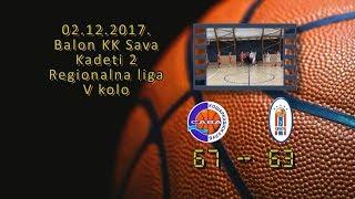 kk sava2 kk novi beograd 7 2 67 63 (kadeti 2, 02 12 2017 ) košarkaški klub sava