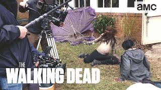 (SPOILERS) 'Pregnant Michonne's Fight Scene' Making of Ep. 914 BTS | The Walking Dead