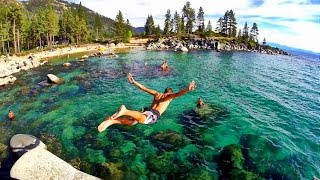 Lake Tahoe (NV) United States  City new picture : Road Trip Lake Tahoe Rock Jumping California USA GoPro Hero 3+ Black HD