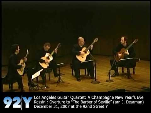 guitarquartet - http://92Y.org/Concerts Los Angeles Guitar Quartet: A Champagne New Year's Eve - Rossini: Overture to