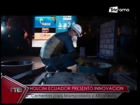Holcim Ecuador presentó innovación cementos para mampostería y albañilería
