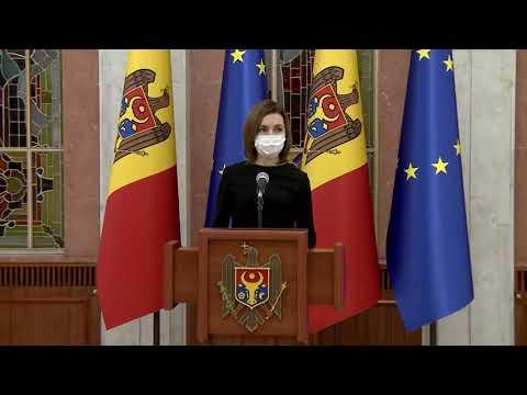 Президент Майя Санду после решения Конституционного суда от 23 февраля провела брифинг