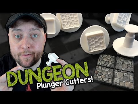 Dungeon Tile Plunger Cutters by Green Stuff World (Black Magic Craft Episode 077) (видео)