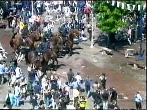 Euro 2000 English And German Hooligans Fight
