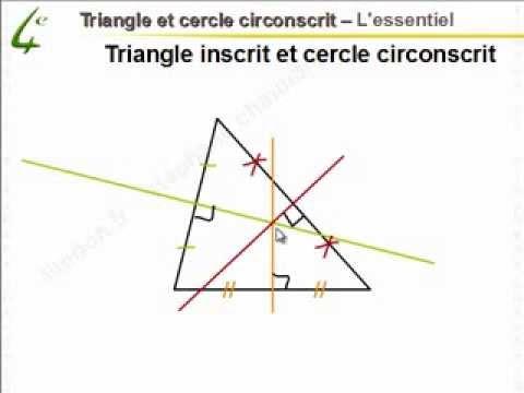 comment construire cercle circonscrit d'un triangle