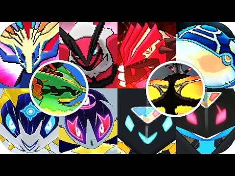 Pokémon 3DS Games - Every Legendary Cutscenes Animations (1080p60)