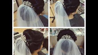 свадебные прически на длинные волосы фото с диадемой
