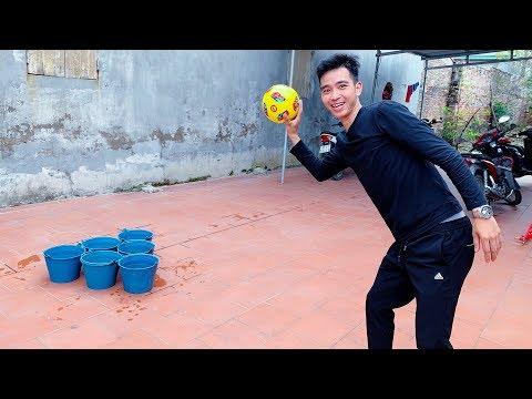 PHD | Thi Ném Bóng Và Hình Phạt Úp Bánh Kem Vào Mặt | Challenge Throwing Ball - Thời lượng: 12 phút.