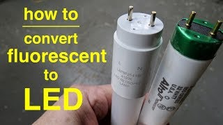 Download Video How To ●  Convert T8 Fluorescent Lights to LED ● Explained in Simple Terms MP3 3GP MP4