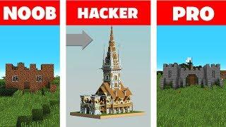 Minecraft NOOB vs PRO vs HACKER : CASTLE CHALLENGE in minecraft / Animation