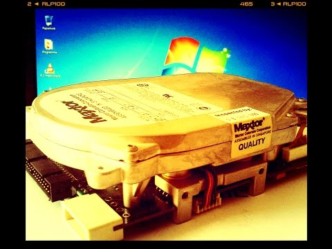 40 MB Hard Drive from 1990 in Windows 7 - Miniscribe (Maxtor) 8051A IDE