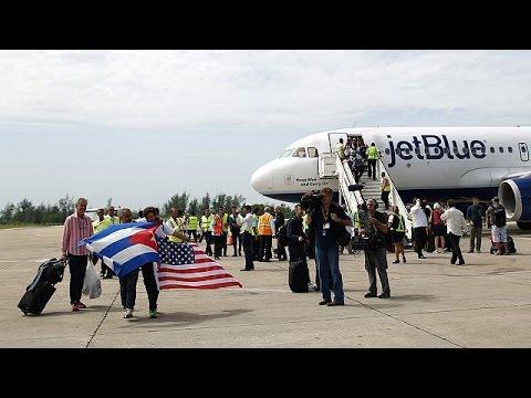 Εν μέσω πανηγυρισμών η πρώτη πτήση από τις ΗΠΑ στην Κούβα
