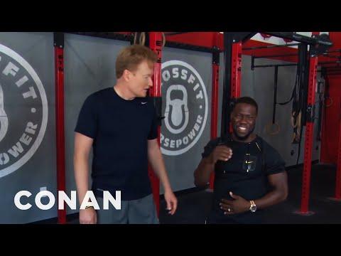 Conan v posilovně s Kevinem Hartem (vystřižené záběry)