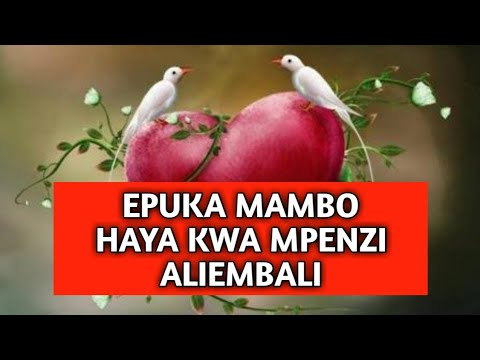 Epuka Kumfanyia Haya Mpenzi Wa Mbali,Atakuacha By Mr.Kadili