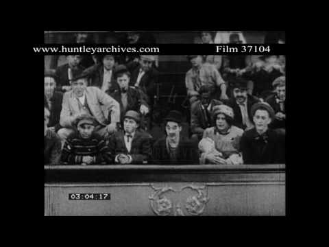 Charlie Chaplin Music Hall Comedy.  Archive Film 37104