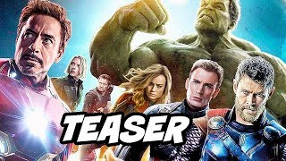 Avengers 4 Endgame Teaser - Silver Surfer and Captain Marvel Trailer Breakdown