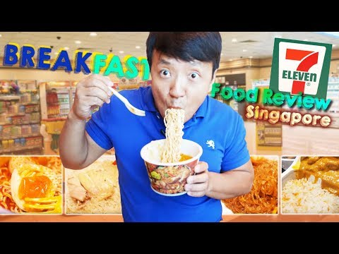 BEST FOOD at Singapore 7-ELEVEN  BREAKFAST Food Review