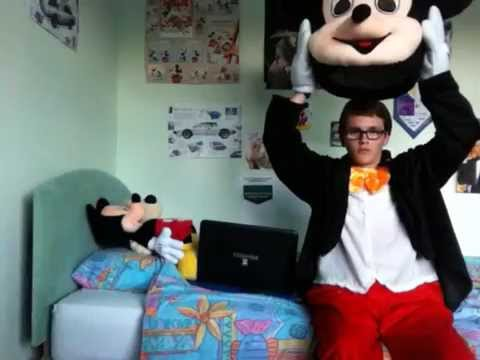 How to Put on the Mickey Mouse Mascot Costume
