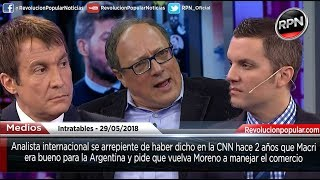 Analista de la CNN destroza a Macri y pide que vuelva Moreno