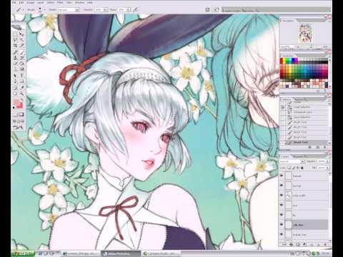 Manga art secrets in Photoshop - Coloring Character 1 on YOUZEEK.com