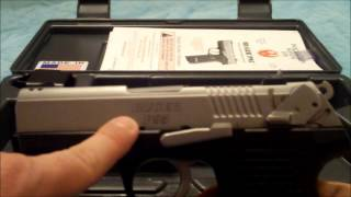 Quick review of the ruger p-95.  One thing I forgot to metion, the gun does have a rail for mounting a laser or light.  Sorry I called the magazine a clip...my bad.