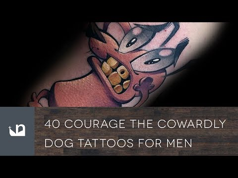 40 Courage The Cowardly Dog Tattoos For Men