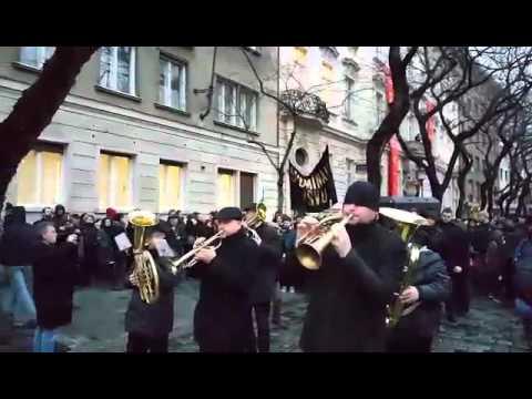 VŠ štrajk - smútočný pochod, pohreb školstva