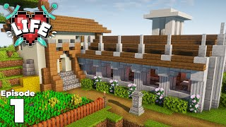 X Life : Episode 1 : Building Our Starter House! Minecraft Survival Let's Play
