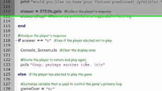 Ruby Programming Basics: Crazy 8 Ball