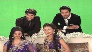 Swara, Sanskar, Laksh and Ragini on the sets of Swaragini PHOTOSHOOT