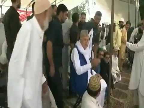 Farooq Abdullah heckled in Srinagar over 'Bharat Mata ki Jai' slogans