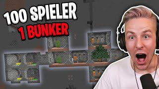 Ihr glaubt NIEMALS, was passiert, wenn 100 SPIELER in Minecraft in EINEM BUNKER leben MÜSSEN!