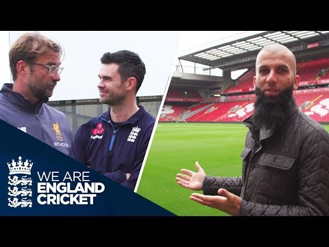 Anfield Tour: Moeen Ali And Jimmy Anderson Meet Jürgen Klopp During Liverpool F.C. Visit