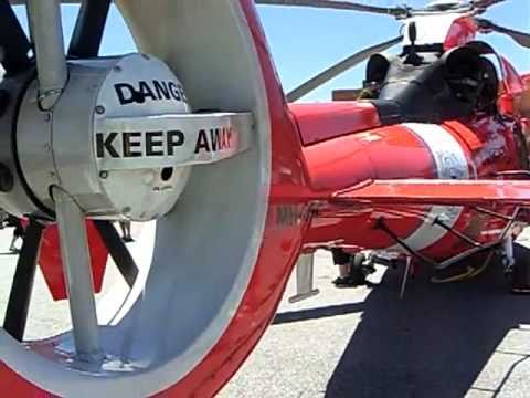 Close look at U.S. Coast Guard Eurocopter Dauphin Helicopter with Fenestron tail rotor -5