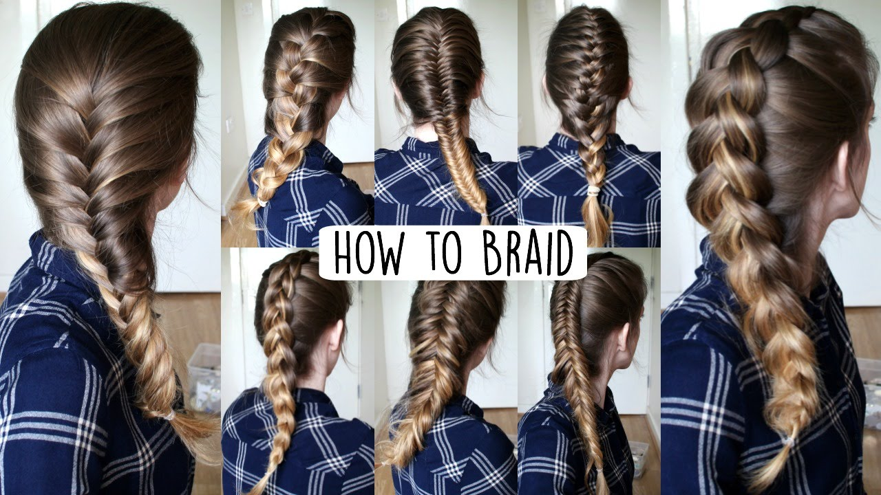 How To Braid Your Own Hair For Beginners How To Braid Braidsandstyles12 #  Braid #frenchbraid
