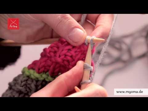 Stricken lernen mit den Omas – DIY Beanie Mütze für Anfänger 7/7: Kopfabnahme