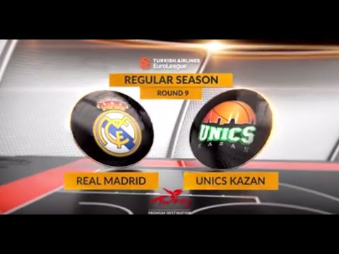 EuroLeague Highlights RS Round 9: Real Madrid 89-75 Unics Kazan