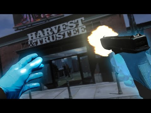 ROBBING A BANK IN VIRTUAL REALITY (Payday 2 VR Funny Moments)